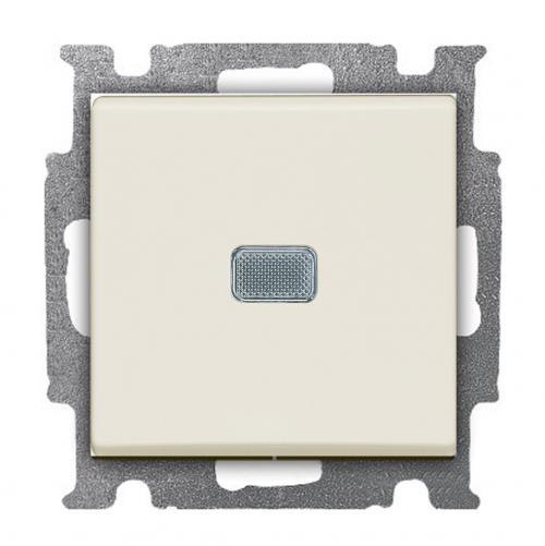 ABB - Ключ eднополюсен с индикация ABB Basic55 слонова кост  1012-0-2156