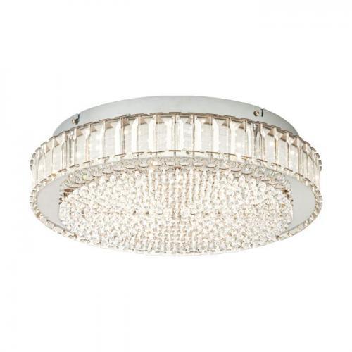 EGLO - Плафониера ПЛ LED панел Ø410 хром/KRISTALL 'BALPARDA' 39746