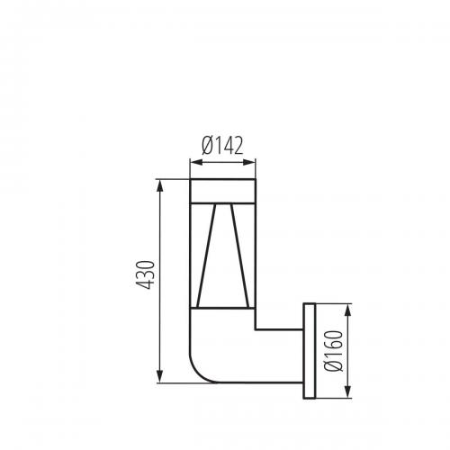 KANLUX - Градински аплик INVO TR EL-53-O-GR (29174)