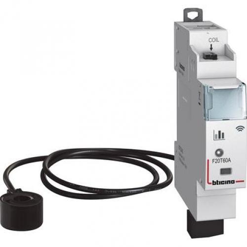 BTICINO - Модулен DIN електромер Smart 1 мод. + измервателен трансформатор Living Now Bticino Netatmo F20T60A