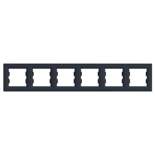 SCHNEIDER ELECTRIC - EPH5800671 Декоративна Рамка Шесторна Asfora Антрацит
