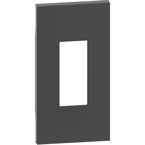 BTICINO - Лицев панел за единични розетки RJ45/LED лампа K4381 2 мод. цвят черно Living Now Bticino KG07M2