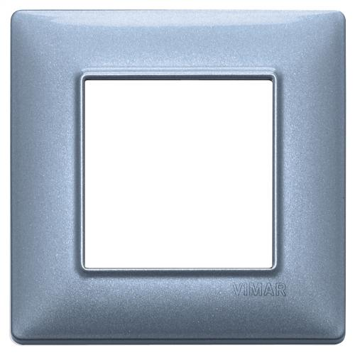VIMAR - 14642.73 - Plate 2M metal metallized blue