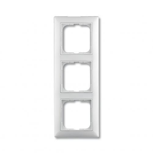 ABB - Рамка тройна ABB Basic55 Бяло 1725-0-1481 хоризонтална и вертикална