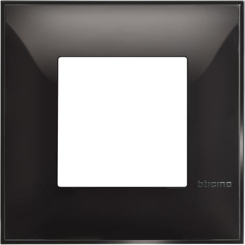 BTICINO - R4802BC Рамка 2М немски стандарт черно Classia