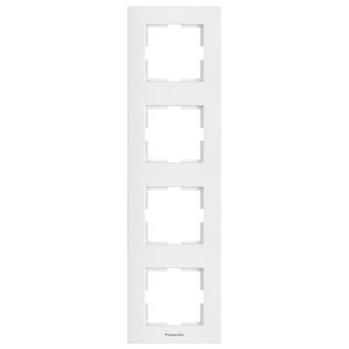 PANASONIC - Четворна рамка вертикална бяла Panasonic Kare WKTF08142WH‐EU1