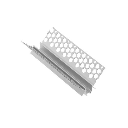 GTV Lighting - Алуминиев профил за лед лента за вграждане в гипсокартон вътрешен ъгъл 3м. PA-GLAXGKWK3M-00