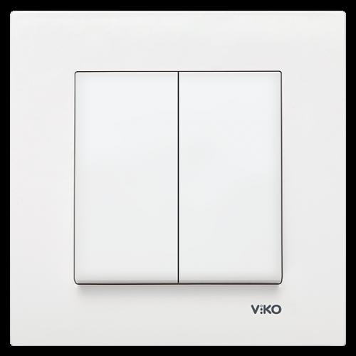 VIKO - 9096 0002 2-gang One-way Switch Viko Karre