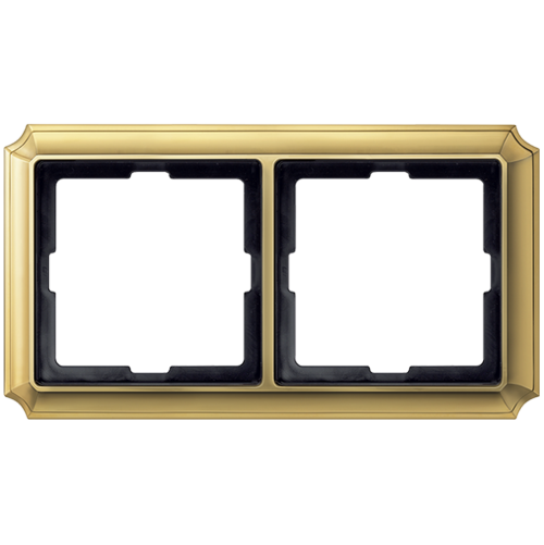 SCHNEIDER ELECTRIC - MTN483221 рамка двойна полиран месинг Antique Merten