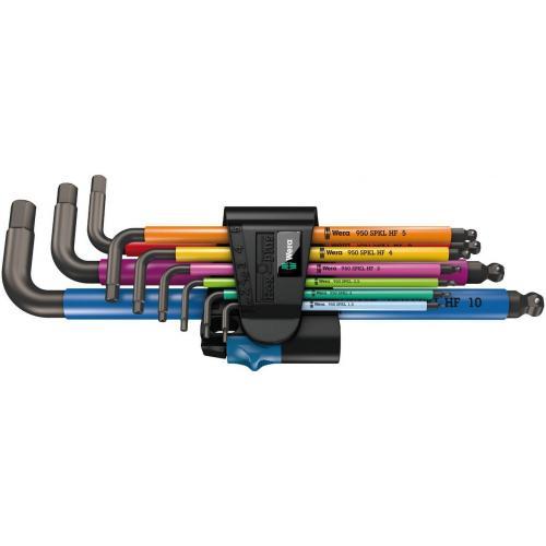WERA - Комплект шестограми 950 SPKL/9 SM N L-key set с изолация и функция задържане Hex Plus BlackLaser 05022210001