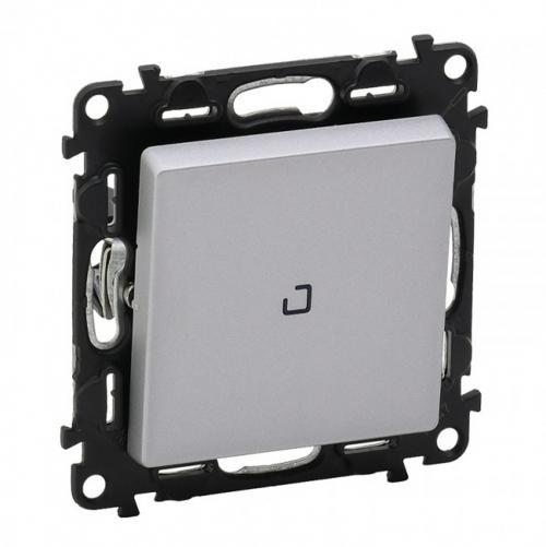 LEGRAND - Еднополюсен ключ с LED индикатор 0.15mA Valena Life 752310 алуминий