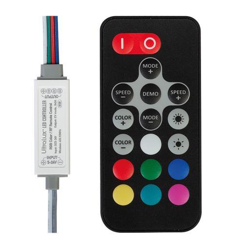 ULTRALUX - RGBRFC6A RF МИНИ КОНТРОЛЕР ЗА RGB СВЕТОДИОДНО ОСВЕТЛЕНИ