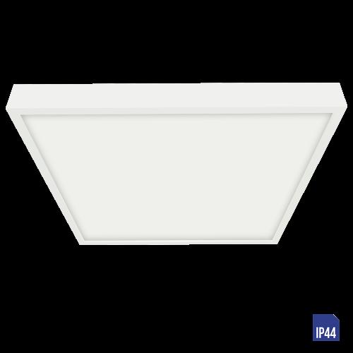 LUXERA - LED панел 6W квадрат влагозащитен IP44 външен монтаж LENYS  49041 Бял