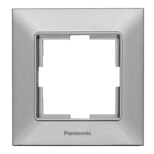 PANASONIC - Единична рамка сиво Panasonic Arkedia Slim WNTF0801-2SL