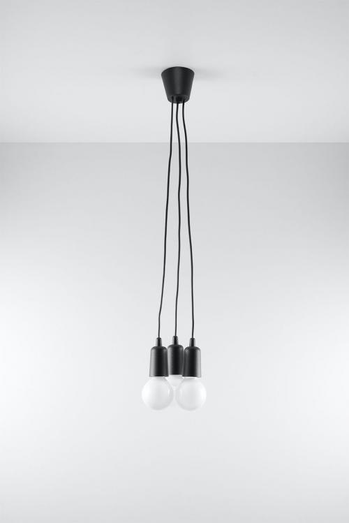 SOLLUX - Пендел  DIEGO 3 black  SL.0573