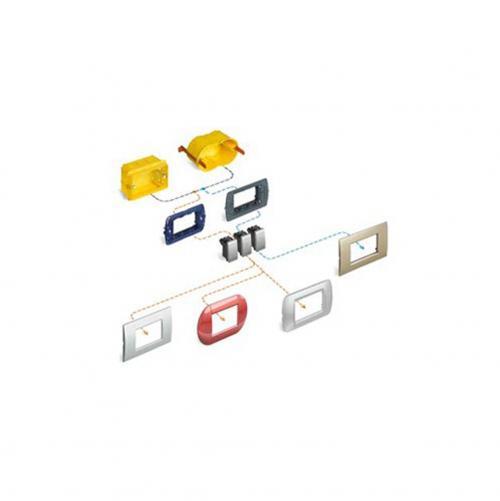 BTICINO - LNC4807BN Рамка 7М white pure Livinglight AIR