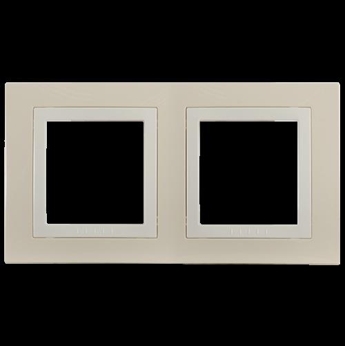 SCHNEIDER ELECTRIC - MGU2.004.559 декоративна рамка Unica Basic двойна крем