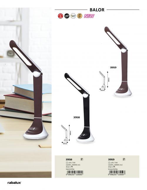 RABALUX - Настолна лампа BALOR LED 4000K 5W 3958