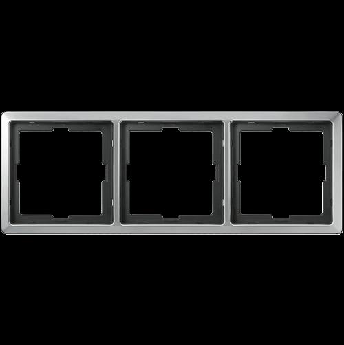 SCHNEIDER ELECTRIC - MTN481346 рамка тройна неръждаема стомана Artec Merten