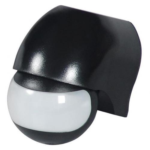 COmmel - Датчик за движение PIR, за открит монтаж на стена, 180°, обхват 12m @ h=2.3m, IP44, цвят Черен Commel 310-102