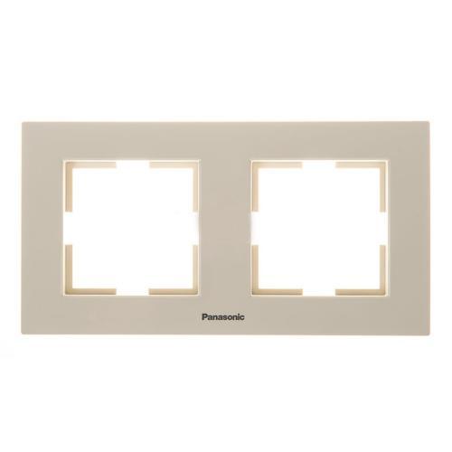 PANASONIC - Двойна рамка хоризонтална крем Panasonic Kare  WKTF0802-2BG