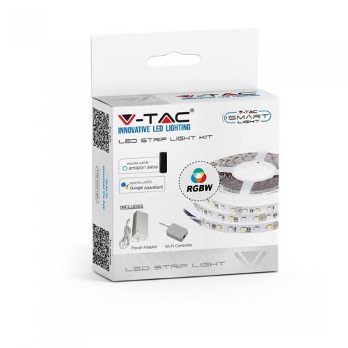V-TAC - Smart LED Лента RGB+W Сет SMD5050 60/1 RGB IP20 съвместима с Amazon Alexa & Google Home SKU: 2584 VT-5050