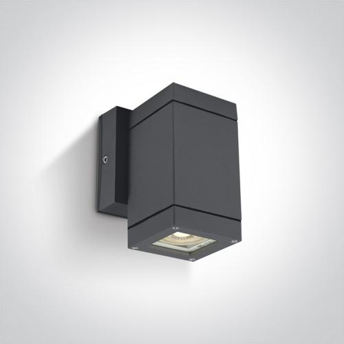 ONE LIGHT - Аплик фасаден квадрат IP54 антрацит 67130F/AN