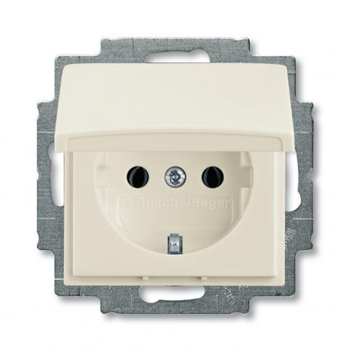 ABB - 2018-0-0350 SCHUKO socket outlet with hinged lid