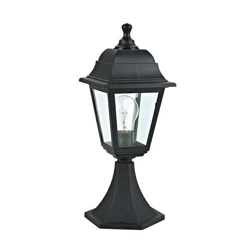 ACA LIGHTING - Градински фенер стоящ черен влагозащитен IP44 PLGP3B