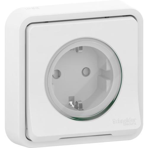 SCHNEIDER ELECTRIC - Влагозащитен контакт за скрит монтаж MUR39132 Mureva Styl бял