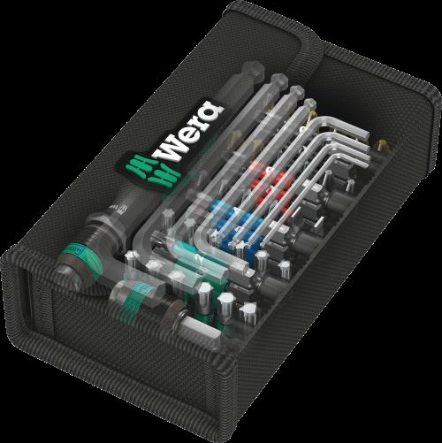 WERA - Wera 057460 Kraftform Kompakt 100 Screwdriver Bit Set With Hex Keys PZ/PH/SL/TX
