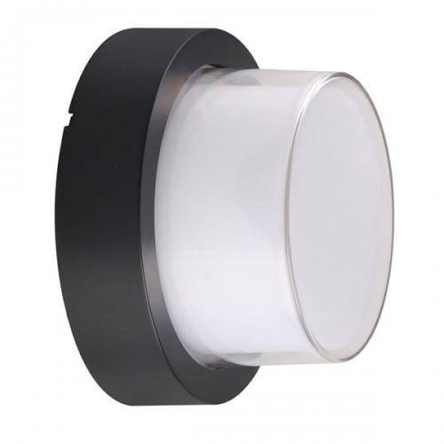 V-TAC - 12W LED Стенна Лампа 3000К Черна Кръгла SKU: 8541 или 4000К 8542 VT-828