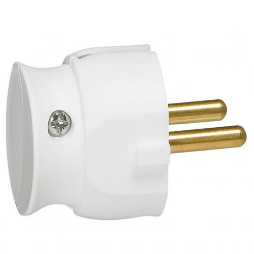 LEGRAND - 50183 Щепсел бял, с кабел на 90°, 2Р 16А компактен размер