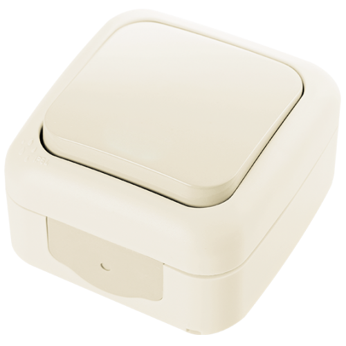 VIKO - единичен ключ Palmiye IP54 крем