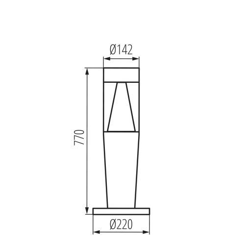KANLUX - Градински стълб INVO TR 77-O-GR (29176)