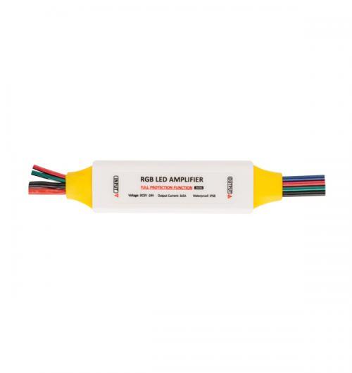 ULTRALUX - PRGBAMP ПРОФЕСИОНАЛЕН УСИЛВАТЕЛ ЗА RGB LED ОСВЕТЛЕНИЕ, 5-24V DC, 3X3.5A, IP63