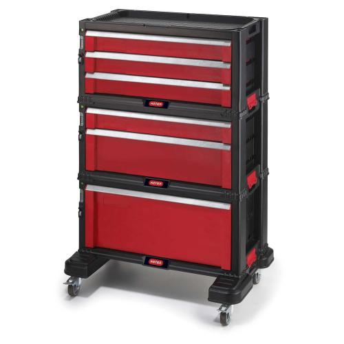 KETER - Шкаф за инструменти шест чекмеджета с колела 17201228