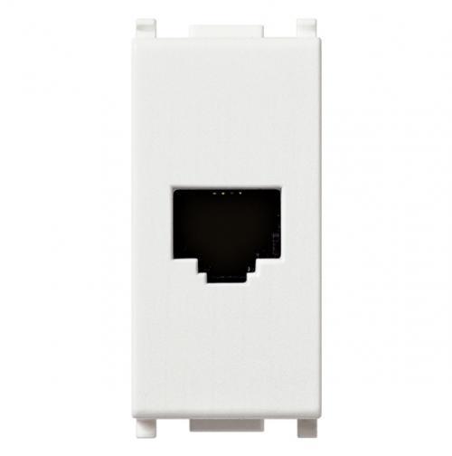 VIMAR - 14320 - Plana RJ11 телефонна розетка 6/4 бял