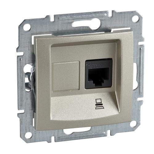 SCHNEIDER ELECTRIC - SDN4700168 Информационна розетка RJ45 кат.6 UTP Sedna, 16А, титаний