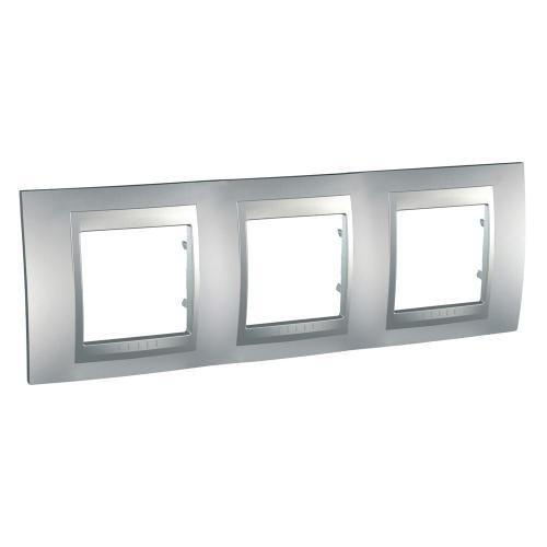 SCHNEIDER ELECTRIC - MGU6.006.30 Unica Top - cover frame - 3 gang - aluminium