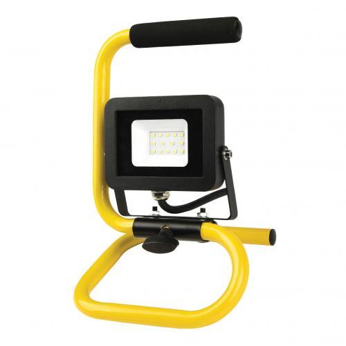 COmmel - Работна лампа 10W 800lm 6500K със стойка IP44 220V с кабел H05RN-F 3x1.5mm2 2,5 метра Commel 308-215