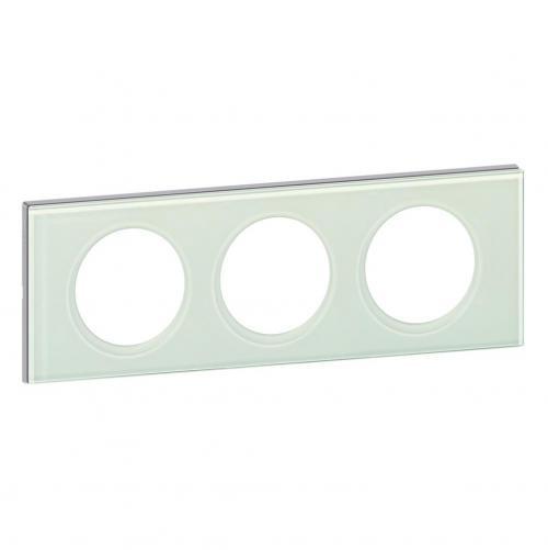 LEGRAND - Тройна рамка Celiane 69313 каолиново стъкло