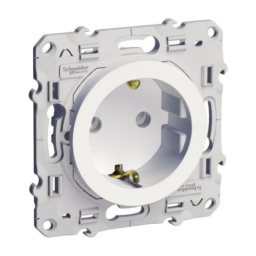 SCHNEIDER ELECTRIC - S520057 Мех. контакт автоматични клеми и детска защита Odace 2Р+E, 16А 250V, бял