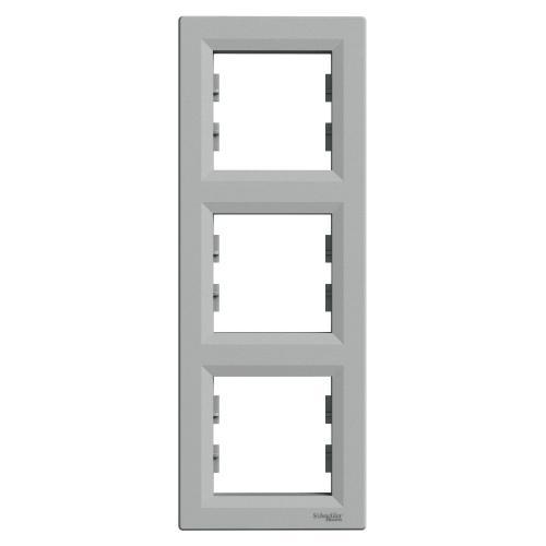SCHNEIDER ELECTRIC - EPH5810361 Вертикална Рамка Тройна Asfora Алуминий