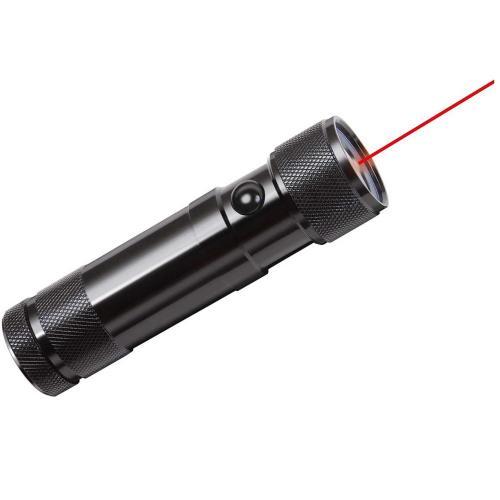 BRENNENSTUHL - LED фенер с лазер, 8LEDs, 50m, 48lm, метален корпус, 1179890100