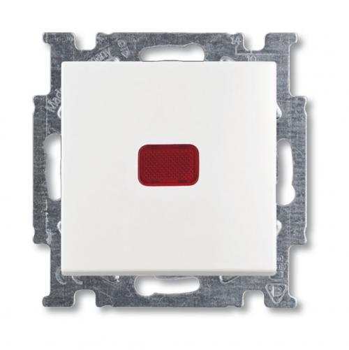 ABB - Ключ девиаторен с индикация ABB Basic55 Бяло 2006/6 UCK-94-507