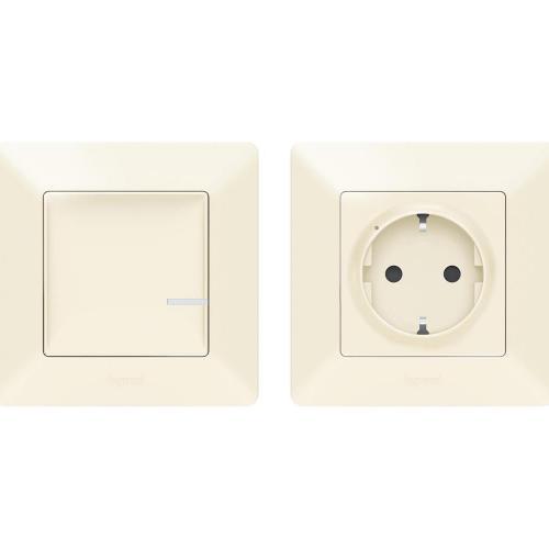 LEGRAND - Комплект свързан контакт управляван от безжичен ключ Netatmo 752254 Valena Life крем
