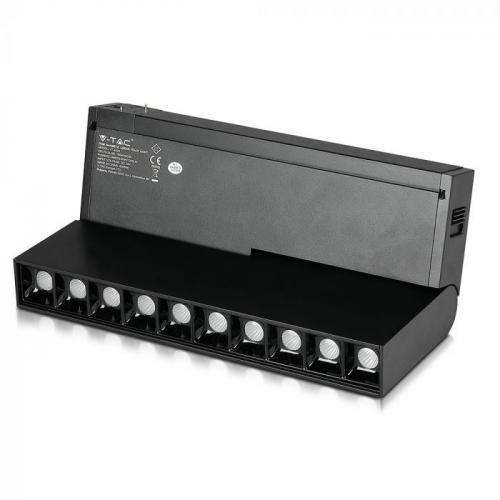 V-TAC - 10*2W Магнитен Линеен Спот Кардан 4000K Черен 24V SKU: 7965 VT-4220