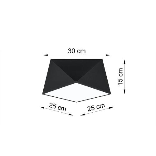 SOLLUX - Плафон  HEXA 25 black   SL.0687