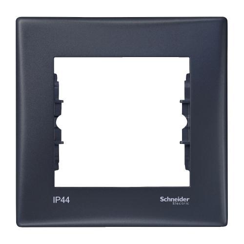 SCHNEIDER ELECTRIC - SDN5810170 влагозащитена рамка Sedna единична графит IP44